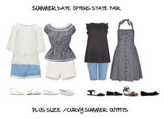 """""""Summer Date Options: State Fair"""" by jessicasanderstx ❤ liked on Polyvore featuring MANGO, Zizzi, New Look, ShoeDazzle, French Connection, Steve Madden, Nly Shoes, TOMS, Soludos and Converse"""