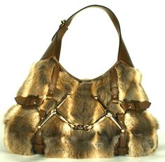Gucci Limited Edition 85th Anniversary Fur Leather Shoulder Bag