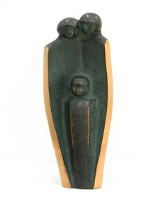 Family with Child Statuette, solid bronze with black patina, made in Germany, $69