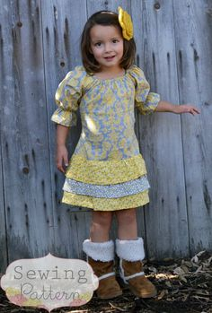 fairytale frocks and lollipops :: sew sweet patterns, maggie dress, girl, baby, toddler, maggie dress, spring, fall, winter, summer, rectangle, ruffles, ties, layers, school, party, birthday, sewing, instant, digital, download, pdf, e-pattern, e-book, epattern, ebook, tutorial, digipattern