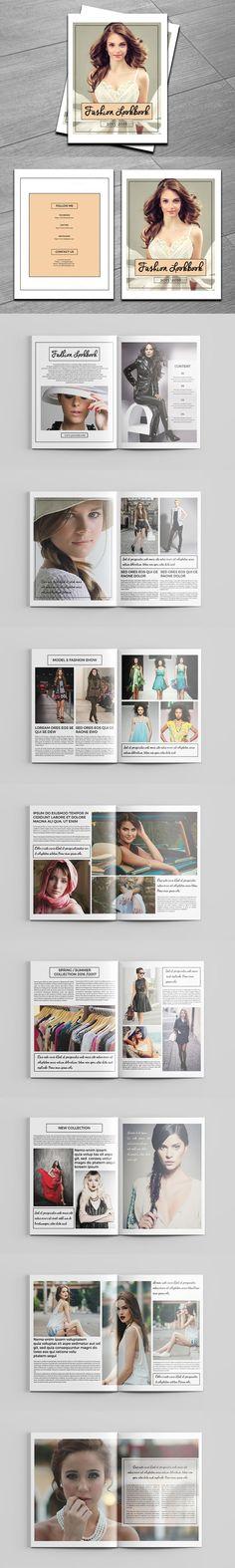 Fashion A4 Trifold Brochure Template #design Download   - fashion design brochure template