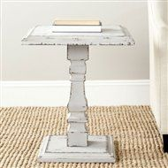 Safavieh American Home Collection Angela Antique White Side Table - Furnitures < Living Room Furniture < Tables < Pedestal Tables Furniture Sale, Table Furniture, Living Room Furniture, Furniture Ideas, Refinished Furniture, Simple Furniture, White Furniture, Online Furniture, Furniture Makeover