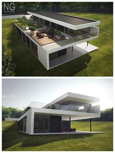 modern 250 m2 house designed by NG architects