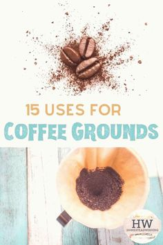 15 Uses for coffee grounds. I am pretty amazed at all the things you can do with coffee grounds. Hair, compost, garden, odor removal, playdough and more! Uses For Coffee Grounds, Coffee Uses, Breastmilk Uses, Uses For Vicks, Garden Coffee, Odor Remover, Chickens Backyard, Candle Making, Compost