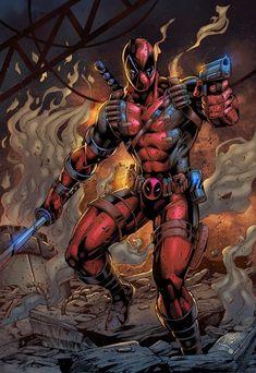 Deadpool by Maksim Strelkov Marvel Universe, Marvel Dc Comics, Marvel Heroes, Thor Marvel, Avengers, Marvel Comic Character, Marvel Characters, Deadpool Art, Deadpool Cosplay