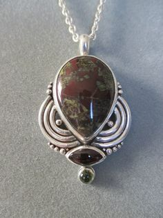 One of a Kind Sterlin Silver Jasper Pendant by RichelleJewelry