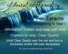 Ailment Affirmation: Earache