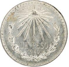 Monedas del siglo XX, plata, Banco de México