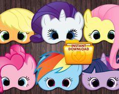 My Little Pony Printable Activities | My little pony printable masks Bi rthday Party - custom diy ...