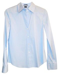 Sky Blue Perfectly Tailored Shirt Button Down Shirt