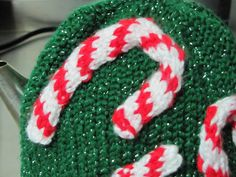 Ravelry: Candy Cane Tea Cozy pattern by Eileen Casey