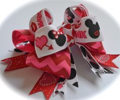 Minnie Mouse Sweetheart Valentine's Bow
