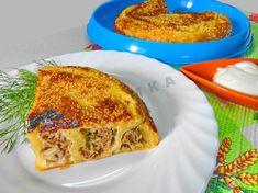Пирог из слоеного теста в мультиварке с мясным фаршем Lasagna, Quiche, French Toast, Cooking, Breakfast, Ethnic Recipes, Food, Kitchen, Morning Coffee