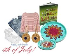 """""""Fair Trade 4th of July"""" by globalgoodspartners ❤ liked on Polyvore featuring Hunter and J.Crew"""