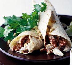 Chicken enchiladas with red mole sauce (with dark chocolate)
