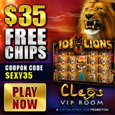 cleos-vip-room-$35-free-bonus only at online sexy slots