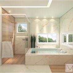 l Banheiro suite super clean de autoria da l . Home Room Design, Dream Home Design, Modern House Design, Home Interior Design, Dream House Interior, Luxury Homes Dream Houses, Dream Bathrooms, Dream Rooms, Bathroom Design Luxury