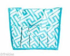 Style Like Mine Geometric Blue Printed Nylon 16Pocket Craft Supply Organizer Bag