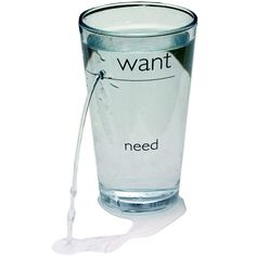 Want/Need Glass