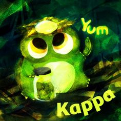 """Kappa  Hello! Do you know """"Kappa""""? It is Yokai from Japanese folklore ! He ordinary lives in river or pound, and loves cucumbers!   I heard that his figure is temporary appearance the God of water..!!!  In addition, I love cucumber pickles, too!   #mizumushikun   #cucumber   #kappa   #yokai   #monster   #god   #Japan   #Japanese   #pickles"""
