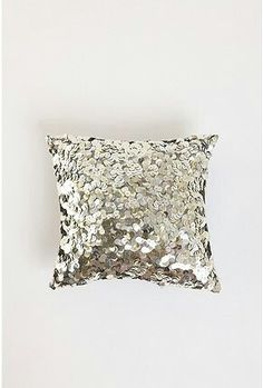 Sequined decorational pillow