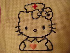 Hello kitty nurse cross stitch