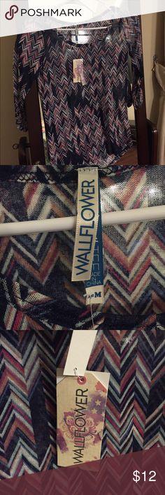 Junior's Medium Semi-Sheer Blouse.  Wallflower Junior's Medium Semi-Sheer Blouse.  Wallflower. New with tags. Wallflower Tops Blouses