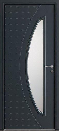 Mod le ga a porte d 39 entr e aluminium contemporaine mi for Vitrage phonique 10 16 4