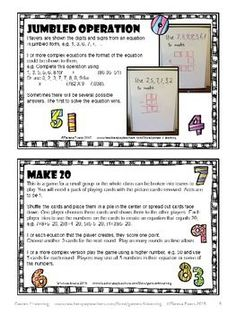 Math Games Ideas Freebie from Games 4 Learning. 5 favorite math game ideas for every classroom!