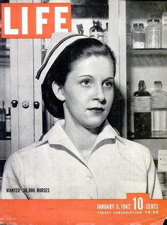 Here is another great LIFE Magazine cover image about women in the United States Navy. This cover from the 5 JAN 1942 edition features Navy Nurse Alberta Rose Krape. The magazine featured an article. History Of Nursing, Medical History, United States Navy, Life Magazine, Nursing Shortage, Nursing Profession, Nursing Career, Nursing Graduation, Magazin Covers