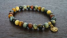 Men's Mixed Tiger's Eye Wrist Mala Bracelet - 27 Bead Tiger Eye Mala - Yoga, Buddhist, Meditation, Jewelry - Free Shipping Etsy