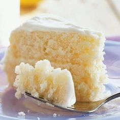 """Lemonade Layer Cake with Cream Cheese Frosting (Cooking Light). """"This is one of the best cakes of all time--always a hit when I make it."""""""