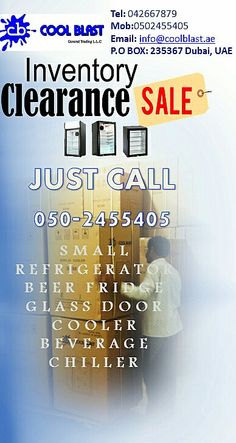 Clearance sale in Dubai  small refrigerator Beer fridge Glass door cooler Beverage chiller