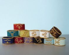 Items similar to Custom Zodiac Sign Handmade Beaded Ring, Featuring Gold Plate Beads on Etsy Bead Loom Bracelets, Beaded Bracelet Patterns, Jewelry Patterns, Handmade Beads, Handmade Bracelets, Handmade Jewelry, Unique Jewelry, Handmade Items, Seed Bead Jewelry