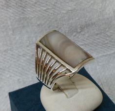 925er Silberring mit Perlmuttplatte SR324 von Schmuckbaron auf Etsy