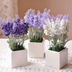 10 bouquet cabeça de seda artificial flores de lavanda bonita