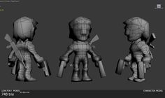 game character wireframe - Google Search