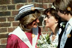 Princess Diana with her former Flatmate Carolyn pride