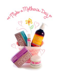 Zoe Organics Mothers Day Gift Basket is packed with organic, natural goodie to pamper any mom or mom-to-be.