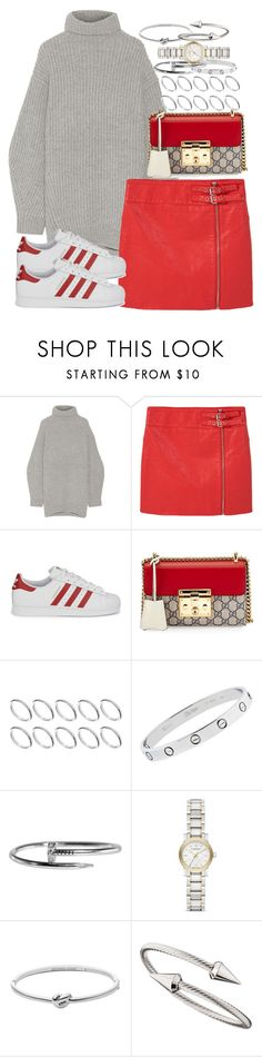"""""""Sin título #4271"""" by hellomissapple ❤ liked on Polyvore featuring Acne Studios, MANGO, adidas Originals, Gucci, ASOS, Cartier, Burberry, Michael Kors and Jules Smith"""