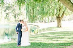 Willow Tree Bride & Groom Rustic Chic Summer Farm Wedding at Pond View Farm Maryland Wedding Photographer Megan Kelsey Photography