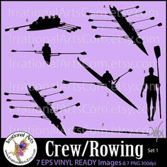 Eight man rowing shell patent 8 man rowing shell patent 8 man crew and rowing set 1 silhouettes vinyl ready images digital malvernweather Gallery