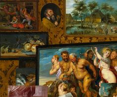 Detail of art collection of Prince Ladislaus Vasa by Étienne de La Hire, 1626 (PD-art/old), Zamek Królewski w Warszawie (ZKW), detail with the March of the Silenus by Peter Paul Rubens