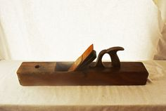 Rustic Wooden Plane Tool Collectible Vintage by Vintassentials