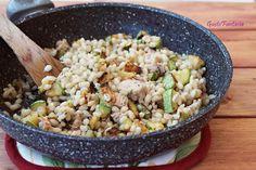 Orzo perlato con tonno e zucchine