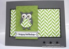 owl builder on Summer Smooches with Chevron embossing folder
