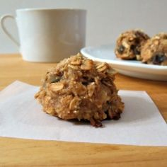 Breakfast Cookies - healthy and gluten-free, made with oats, banana,almonds and raisins