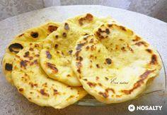 Naan-indiai kenyér thang zonggal és íróval