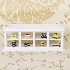 1/12 Dollhouse Miniature White Wooden Food Cake Display Cabinet Counter in Dolls & Bears, Dollhouse Miniatures, Furniture & Room Items | eBay