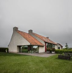 """archatlas: """" BS Residence Vincent Van Duysen The gently sloping, wide and rough landscape with a windmill on the horizon, requires a very sheltered but open contemporary approach: strong base volumes..."""